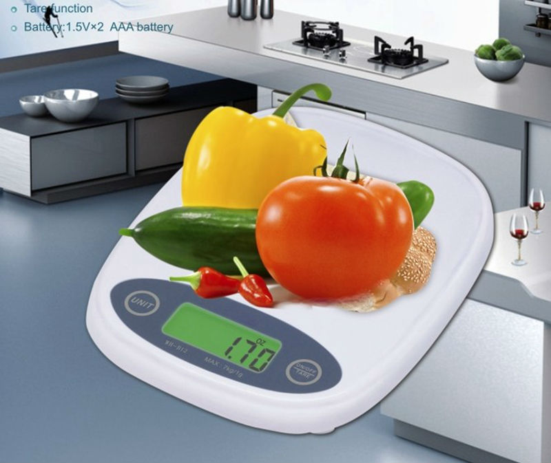 7kg Digital LCD Kitchen Scale 7000G 1g Mini Pocket Food Laboratory Balance Weight Scales Backlight Tare Cooking Tools B12