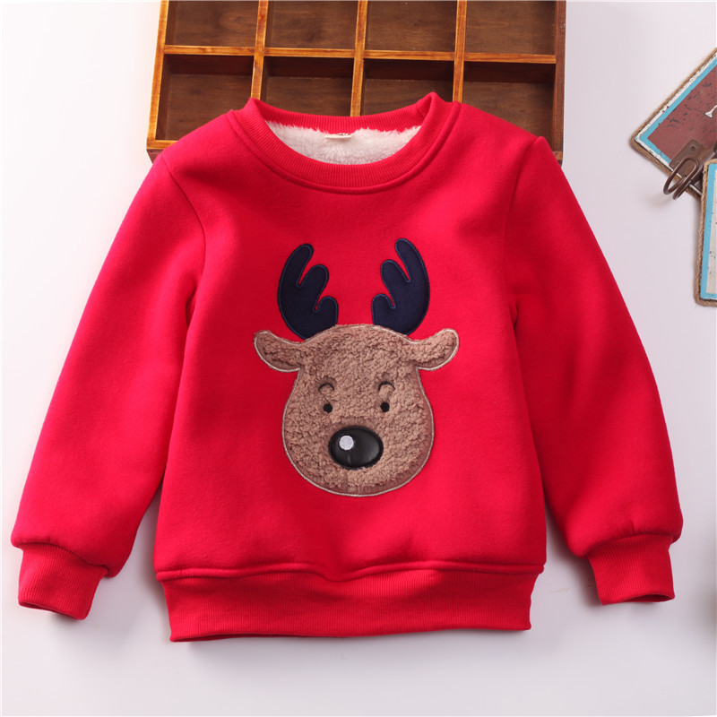Winter autumn kids thick velvet swaetshirt warm cartoon coat toddler boy jacket in Jackets Coats from Mother Kids