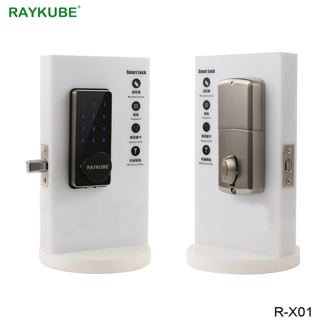 RAYKUBE Electronic Door Lock Password Code Bluetooth APP Opening Touch Keypad Access Control Lock For Home Security