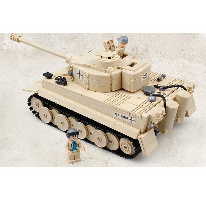 995Pcs 82011 Century Military German King Tiger Tank Cannon Building Blocks Model Sets AIBOULLY Toys For Childrens