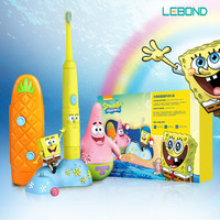 LEBOND Sonic Electric Toothbrush Q2 Series Spongebob Cartoon Look Inductive Charging Designed For Kids Age 3+ Yellow/Pink