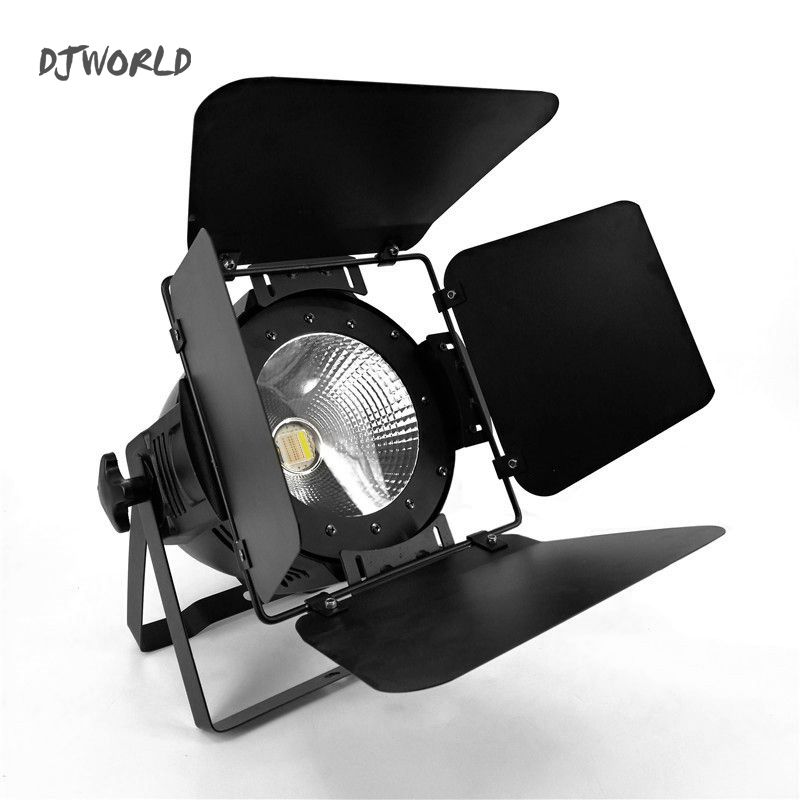 High Power 200W C0B LED Par With BarnDoor RGBWA+UV 6in1COB Stage Lighting Lamp For Stage Effect DJ Disco Lighting Party Lights
