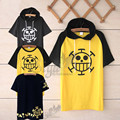 One piece Trafalgar Law T shirt cosplay costumes Unisex tops cartoon short sleeved Summer tees