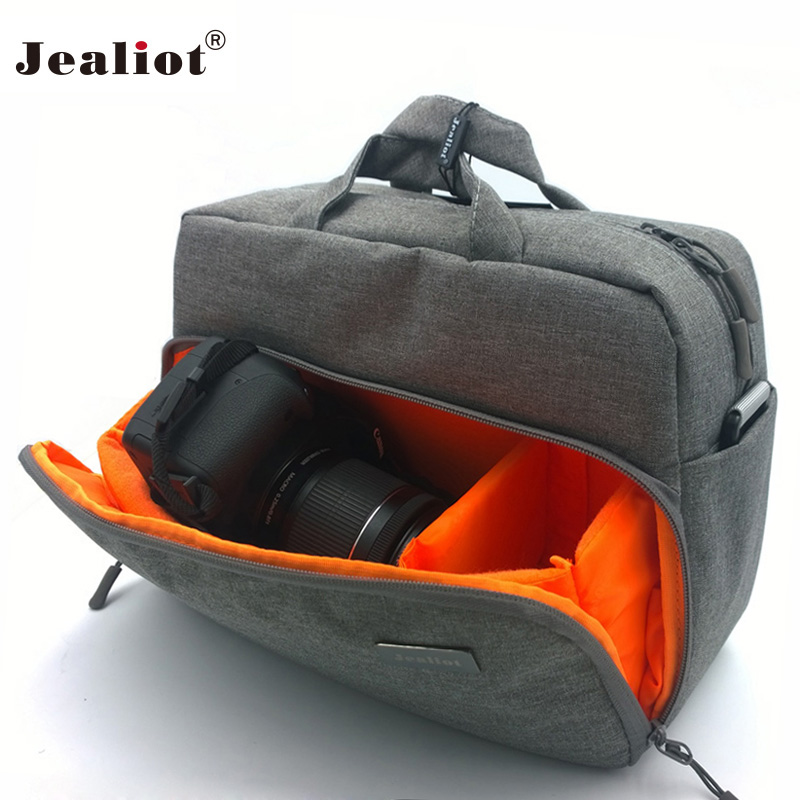 2017 Jealiot Camera Bag digital camera Women men shoulder Travel bags waterproof Video Photo case for Canon DSLR free shipping