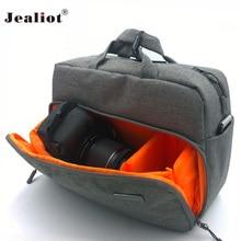 2017 Jealiot Camera Bag digital camera Women men shoulder Travel bags waterproof Video Photo case for Canon DSLR free shipping