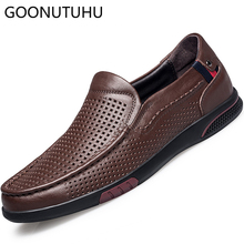 цена на 2019 fashion men's shoes casual genuine leather cow loafers male breathable summer slip on shoe man flats driving shoes for men