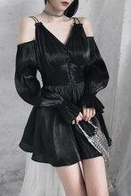 Черный сексуальное Короткое мини-платье