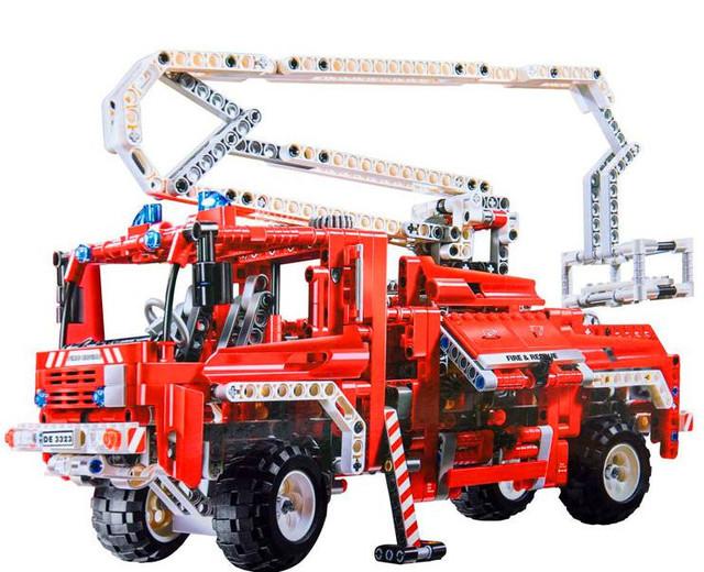 2016 nueva DECOOL 3323 serie Técnica el Camión de Bomberos modelo building blocks set Classic compatible legoed coche Juguetes Educativos