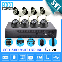 HD AHD 960H 8Ch 900TVL CCTV Video Surveillance System Onvif NVR DVR Recorder Kit 8ch Home