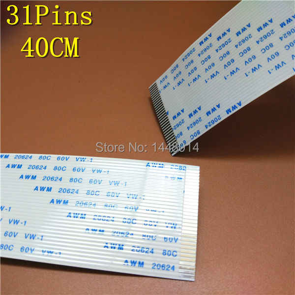 10 pcs grosir Mutoh VJ1204 Yaselan Infinity Zhongye Printer kepala DX5 Allwin Manusia Flex kabel data 31PIN 40 cm