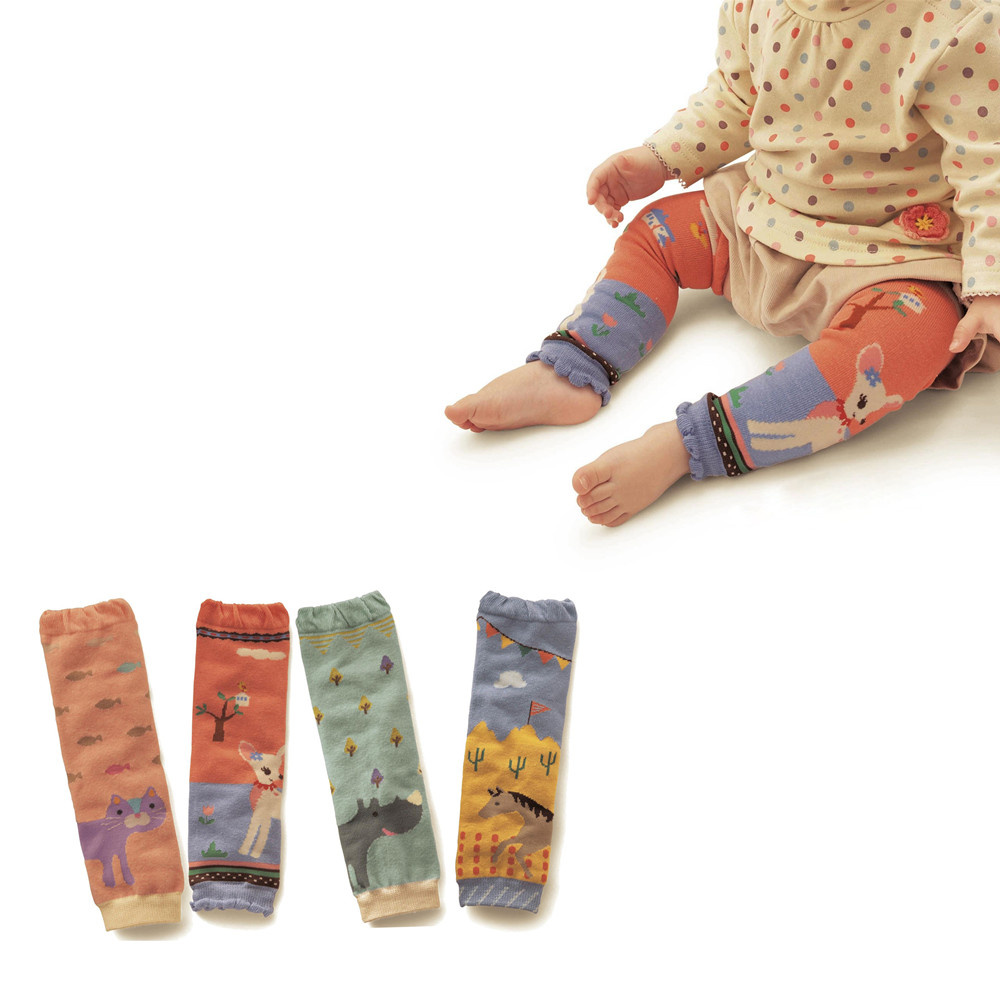 Baby Leg Warmers Socks Kids Safety Crawling Elbow Cushion Infants Toddlers Baby Knee Pads Leg Warmers Animal Print
