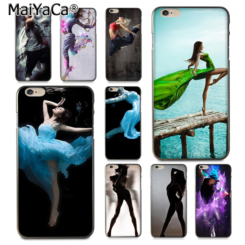 Maiyaca танцор милый танцующая девушка Хит продаж дизайн кожи тонкий ПК cell чехол для iphone 8 7 6 6 S плюс x 10 5 5S SE 5C Coque В виде ракушки