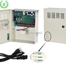 DHL/EMS: CCTV источник питания 18 каналов DC12V 10A UPS блок питания Поддержка батареи CE ROHS для камеры видеонаблюдения