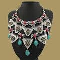 2015 New Arrival Big Declaração Pendant & Colar de Luxo Do Vintage Maxi Mulheres Cadeia de Acessórios de Colarinho Mulheres