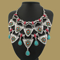 2015 New Arrival Big Luxury Statement Pendant& Necklace Vintage Maxi Women Accessories Chain Collar Women