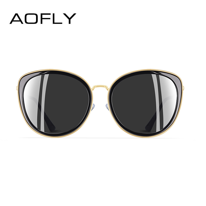 Image 3 - AOFLY BRAND DESIGN New 2019 Cat Eye Sunglasses Women Gradient Lens Polarized Sunglasses Female Metal Temple Goggles UV400 A111Womens Sunglasses   -
