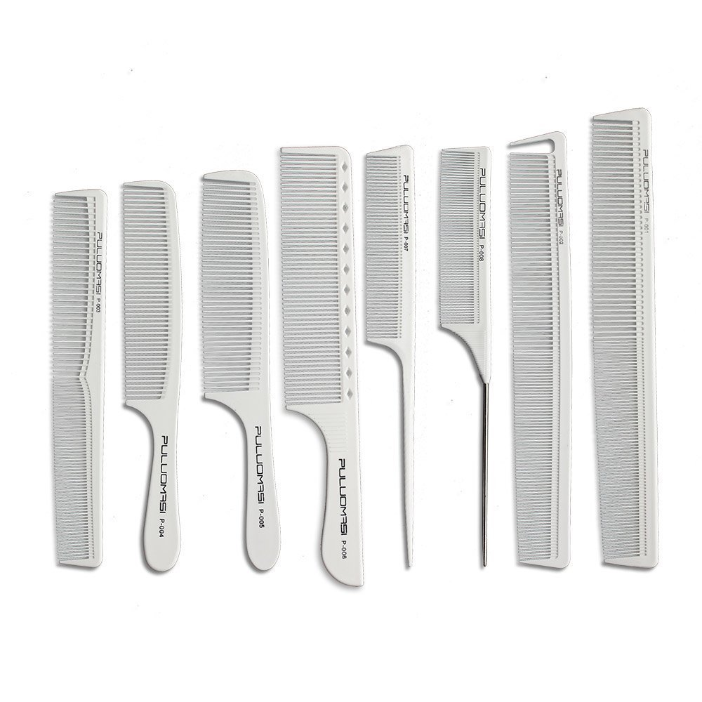 IONIC STYLER Professional hair clippers , trimmers, combs Comb hair White Color Carbon Tail Comb For Hairdressers
