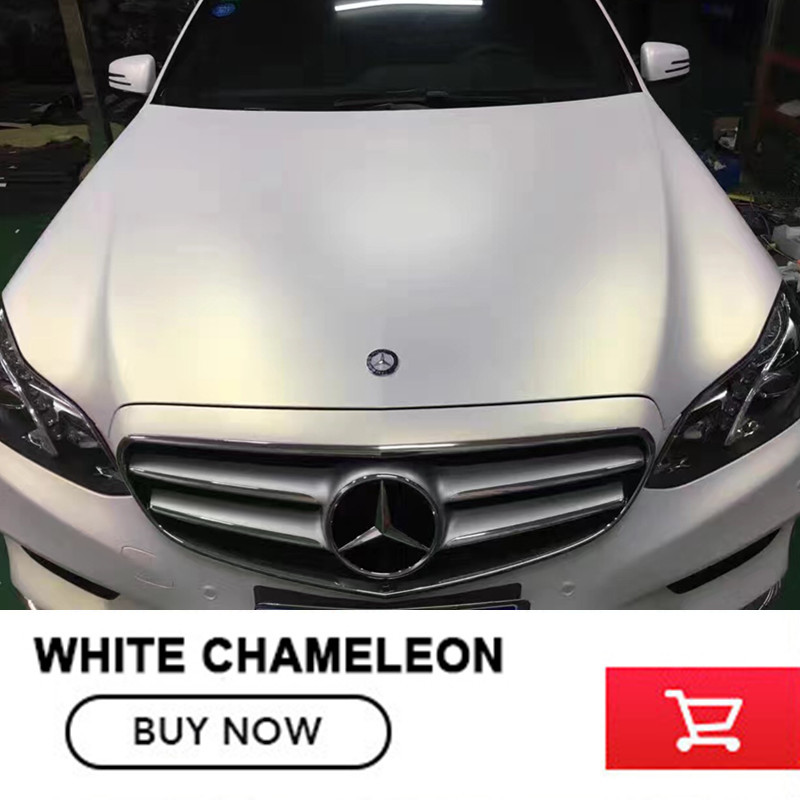20M Ceramic White Chameleon vinyl wrap car stickers Bubble Free Car Vinyl Film for car body film Size:1.52X20M 2m 18mx152cm glossy matte chameleon pearl glitter vinyl sticker purple blue chameleon automobiles car wrap diamond vinyl film