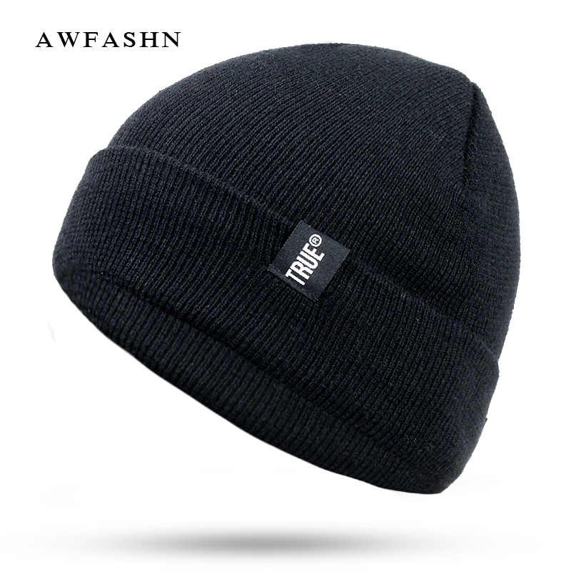 952cd8cfa7c New women s winter caps wool hats warm skullies Knitted beanies man black  high quality cotton cap