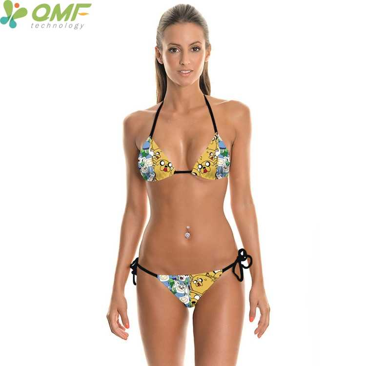 6df82f7730925 ... Adventure Time Bikinis Sets Funny Finn And Jake 3D Print Bathing Suit  Bandage Swimwear 2 Pieces ...