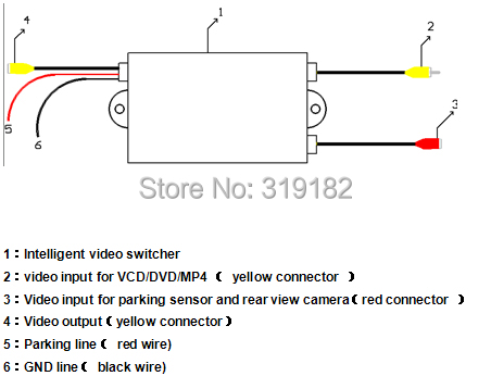 Cheapestintelligent control 2 channel car camera video switch prior parking intelligent testing and automatic switching asfbconference2016 Choice Image