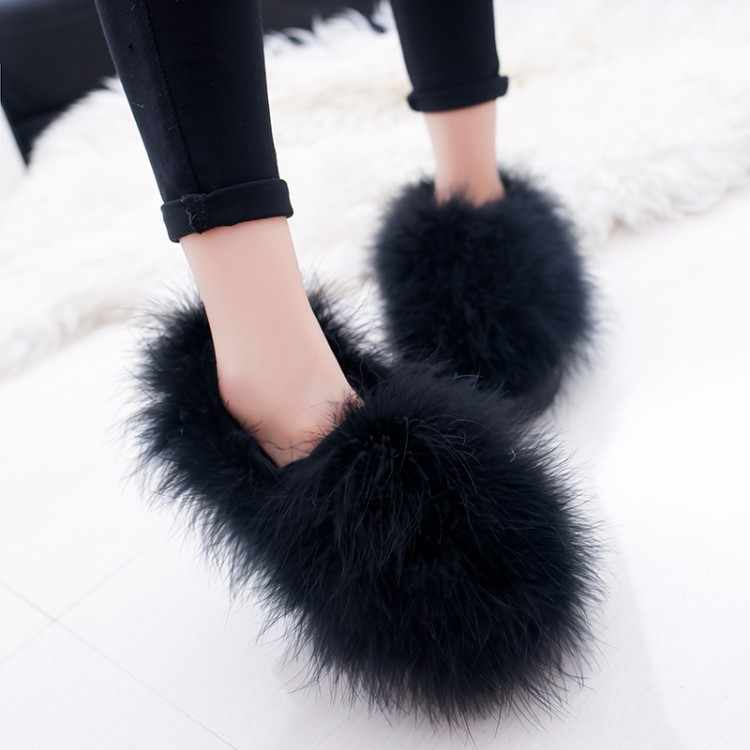 Cute Plush Winter Shoes Women Warm Peluche Ballet Flats 2020 Designer Furry Casual Shoes Woman Outdoor Loafers Zapatillas Mujer