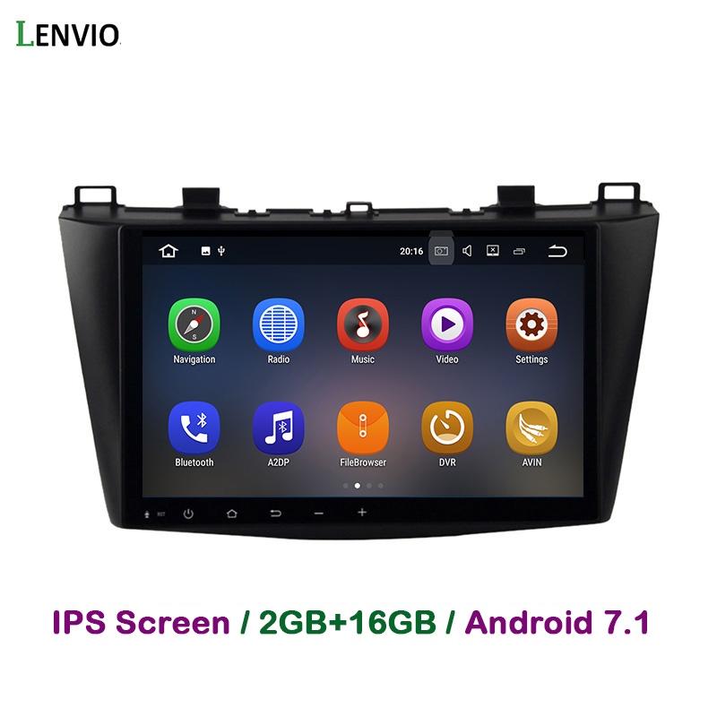 Lenvio 2 GB RAM 2 Din <font><b>Android</b></font> 7.1 <font><b>AUTO</b></font> DVD Player Für <font><b>MAZDA</b></font> <font><b>3</b></font> 2010 2011 2012 Quad Core <font><b>Auto</b></font> Radio GPS Navigation multimedia BT IPS image