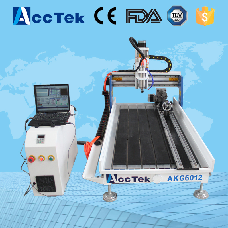 Acctek hot sale cnc router machine AKG6090/6012 for wood ,stone ,metal/mini cnc router metal cutting machines hot top quality and agent wanted cnc router 6090 cnc cutting machines