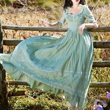 Высокое качество Новое поступление; Летнее Элегантный квадратный вырез модный короткий рукав Твердые Цвет длинное кружевное Хлопковое платье