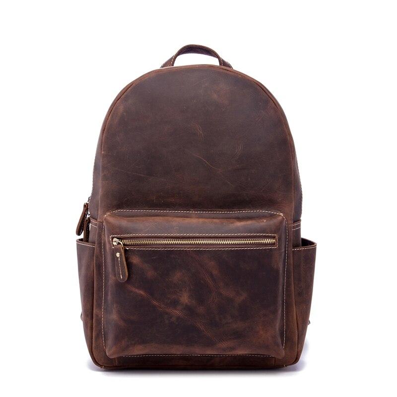Bagaj ve Çantalar'ten Sırt Çantaları'de Erkekler Sırt Çantası Hakiki Deri Kadın Erkek Seyahat Iş Çılgın At Kadın Okul Öğrenci Büyük Kapasiteli Çanta laptop çantası Adam HEDIYE'da  Grup 1