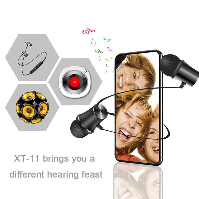 Nouvve XT11 Wireless Headphone Magnetic Bluetooth Earphone Sport Headset Handsfree Bass Earbuds with Mic for Smart phone iPhone