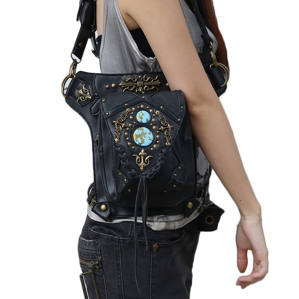 Diinovivo Street Style Punk Women Crossbody Bags Steampunk Waist Vintage Female Motorcycle Leg Thigh Holster Bag Whdv0109 In From