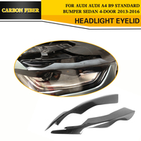 13 14 Carbon Fiber Headlamp Eyelids Auto Car Side Eyebrows For Audi Fit For Audi A4