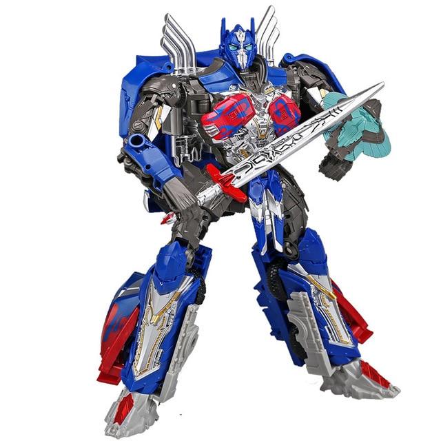 Hasbro Transformers aksiyon figürleri oyuncak King Kong 5 siyah Mamba KO kamyon Optimus Prime film geri seviye Robot modeli oyuncak