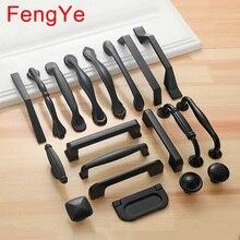 FengYe, американский стиль, черные ручки, кухонная дверь шкафа, мебель, алюминиевые ручки, шкаф, комод, шкаф, обувная коробка, тяга, Hardwar