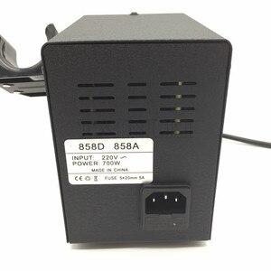 Image 3 - 700W 858D 납땜 스테이션 LED 디지털 디 솔더링 스테이션 SMD 재 작업 솔더 스테이션 핫 에어 건 + 60W 솔더 아이언
