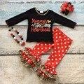 Хлопок день святого валентина бутик новорожденных девочек наряды одежды оборками костюм мамы сердцебиение любовь leopard топ match аксессуары