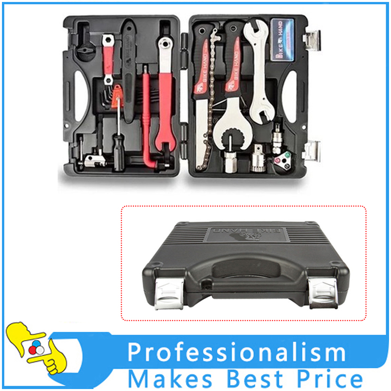 18 in 1 Durable Mutifunctional Bicycle Repair Tool Set Portable Tool Box Set Hex Key Wrench Remover Crank Puller Cycling Tools gub hin 181 portable bicycle stainless steel repair tool kit wrench set black