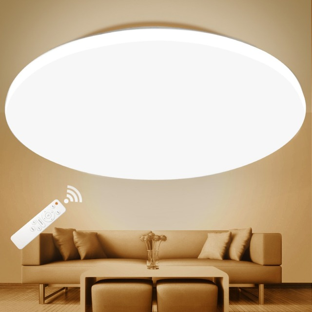 LED Ceiling Light Lighting Fixture Modern Lamp Living Room Bedroom Kitchen Bathroom Surface Mount Remote Control