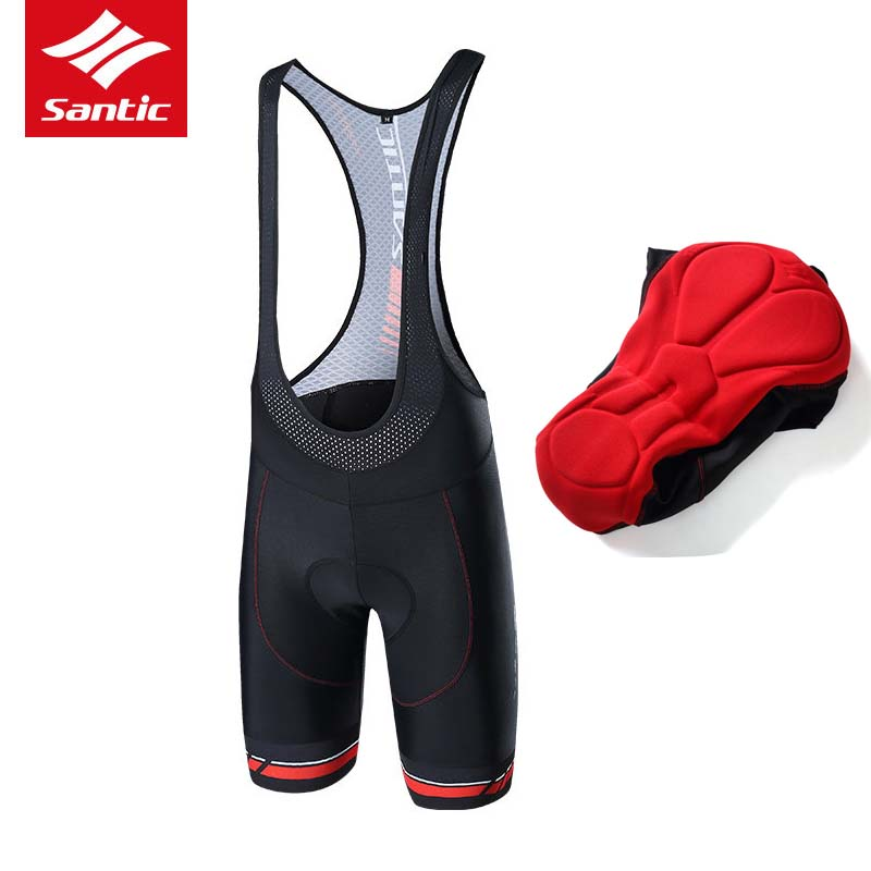 Santic Men Cycling Bib Shorts Bibs 4D Padded for Long Distance Rides Breathable Quick Dry Elastic Road Bike Bicycle Bib Shorts santic cycling shorts men bib shorts 4d padded quick dry breathable mesh mountain road bicycle bike shorts ciclismo original
