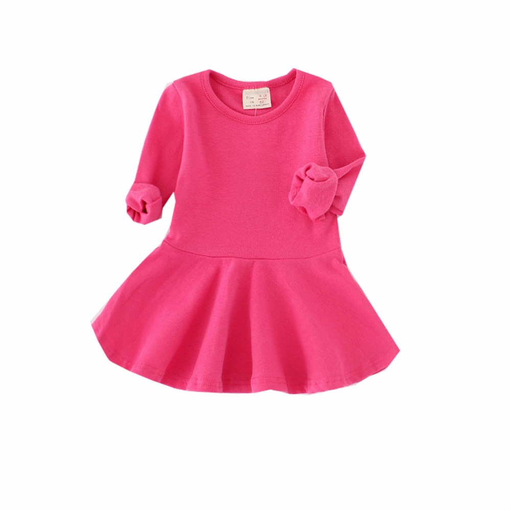 Children Girls Dress Candy Color Baby Girl Dress Children Clothing Children Dress Spring Autumn Girl Dress Baby Products