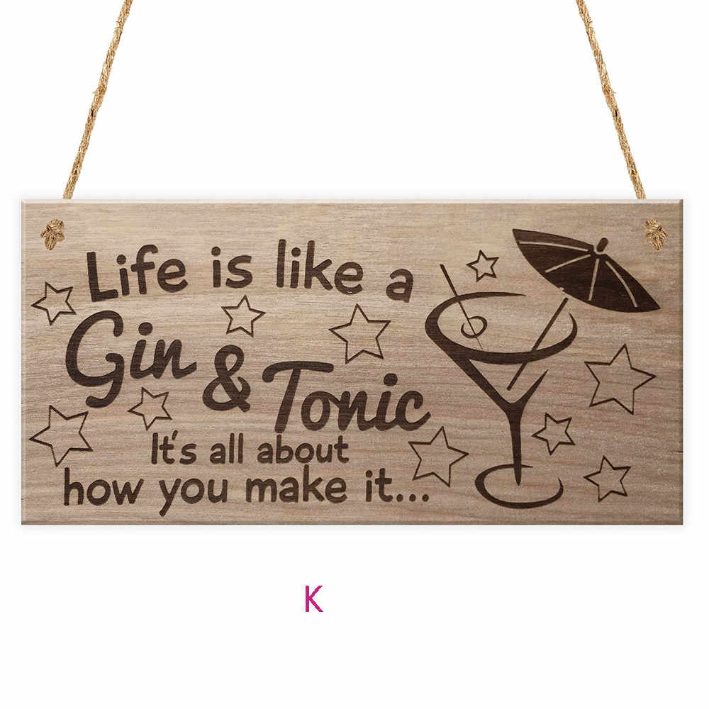 Family Wooden Plaque Sign Wine Tags Decor Vintage Home Cool
