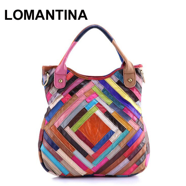 Aliexpress.com : Buy 2017 Leather Patchwork Bag Women Lambskin ...