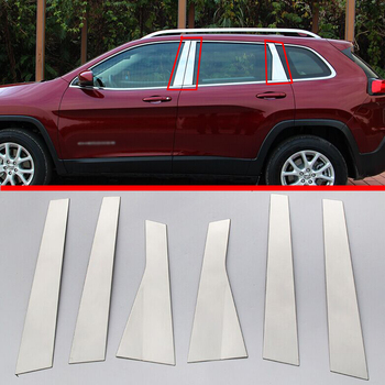 For Jeep Cherokee Limited 2014-2017 Stainless Steel pillar post trim