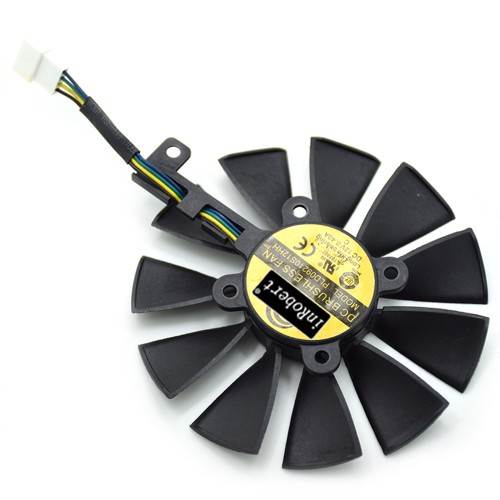 New 88MM PLD09210S12HH Cooling Fan For ASUS STRIX RX 480 580 GTX 1050 1070 1080 1080Ti GTX 960 970 980 Graphics Card Cooler Fan