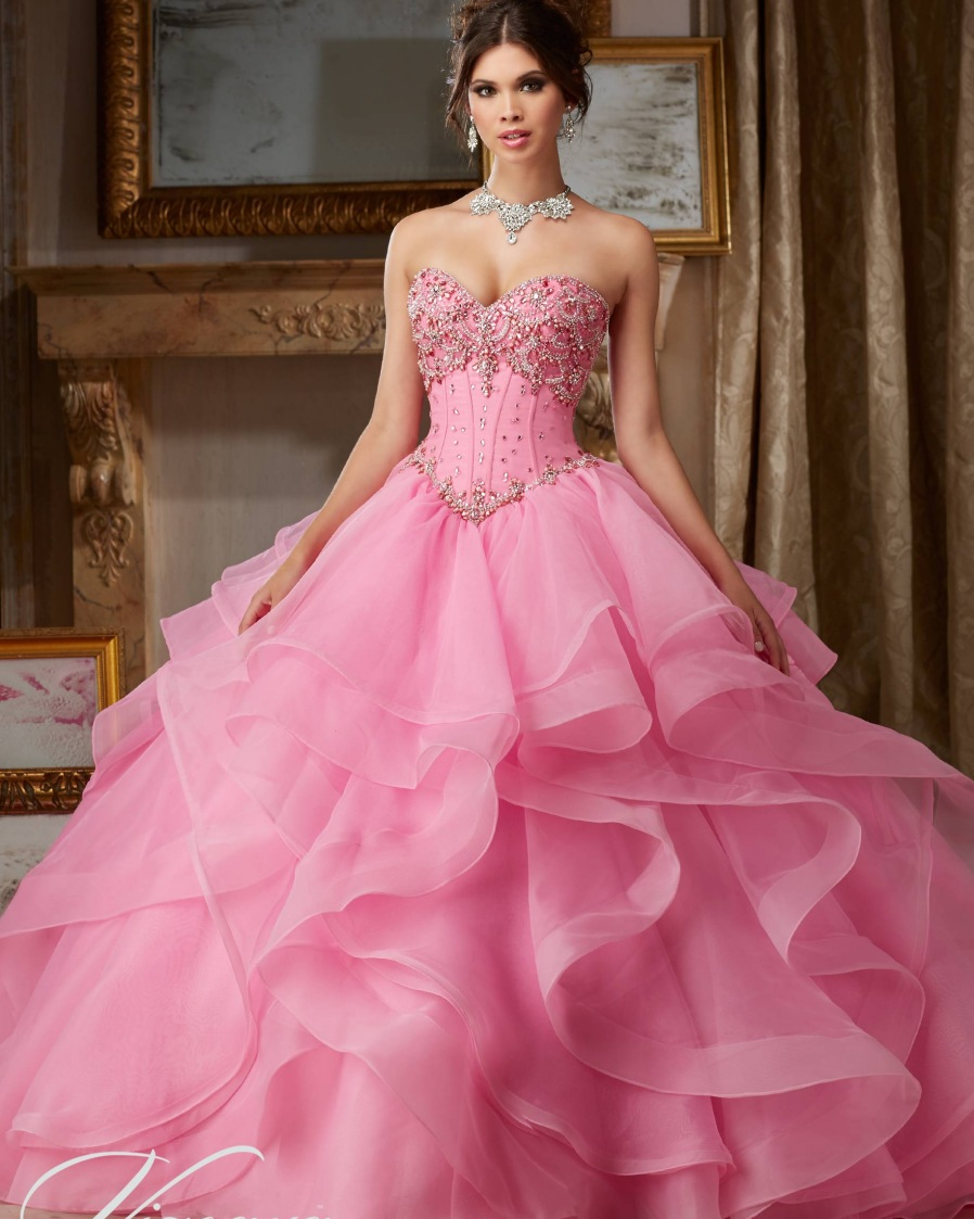 Popular Pink Puffy Quinceanera Dresses Buy Cheap Pink