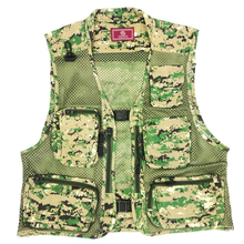 Quick Dry Camouflage Multifunctional Polyester Fishing Vest Jacket Fishing Clothing Multi-Pocket Photography Waistcoat FT0048
