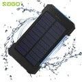 Sago2016 impermeable solar banco de la energía 20000 mah dual usb cargador de batería solar con luz led y compás portable universal teléfono
