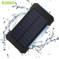 Sago2016 waterproof solar power bank 20000 mah dual usb portable carregador de bateria solar com led light & compass para universal telefone