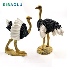 Artificial Ostrich Bird Simulation Animal model figurine home decor miniature fairy garden decoration accessories modern Pvc toy new zealand national bird artificial animal model about kiwi bird toy fur